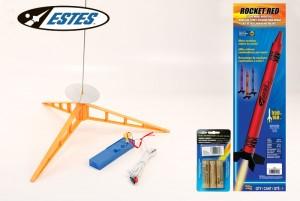 Модель ракеты Estes Outer-Space Orange Crayon Rocket (Launch Set+ RTF)
