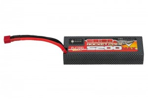Аккумулятор Rocket Pack V-Max LiPo 7.6V 2S 55C 5200mAh Rectangular (LED, Deans) фото
