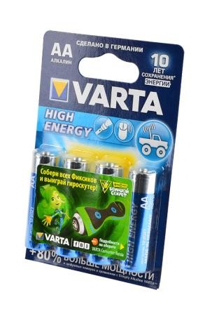 Батарейка VARTA High Energy 4906 LR6 BL4 фото