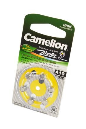 Батарейка Camelion Zinc-Air A10-BP6(0% Hg) BL6 фото