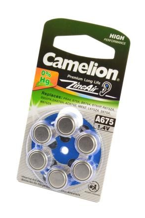Батарейка Camelion Zinc-Air A675-BP6(0% Hg) BL6 фото