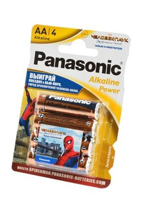 Батарейка Panasonic Alkaline Power LR6APB/4BPS RU Spider-Man LR6 + наклейка BL4 фото