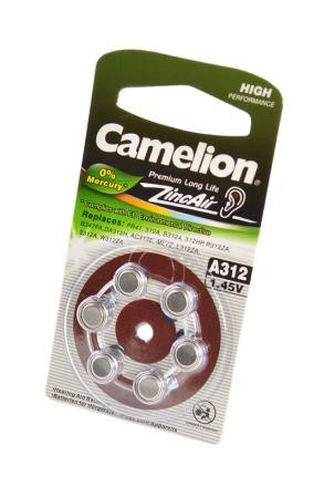 Батарейка Camelion Zinc-Air A312-BP6(0% Hg) BL6 фото