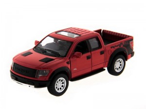 Машина Kinsmart Ford F-150 SVT Raptor Supercrew (инерция) б/к фото