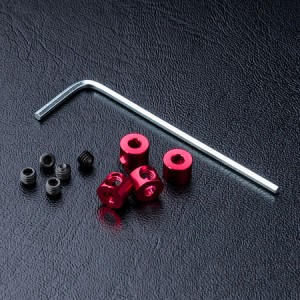 Alum. stabilizer rod stopper (red) (4) фото