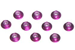 Aluminum Nylon Nut with Flage 2mm Purple фото