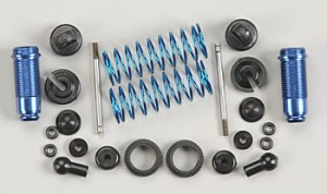 Амортизаторы - Factory Team 18T Rear Threaded Kit, with collars, blue aluminum (2шт) фото