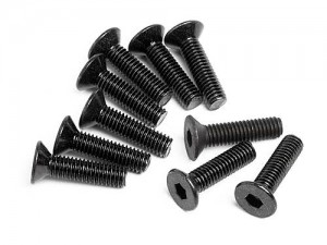 Flat Head Screw M3x12mm (Hex Socket/10pcs) фото