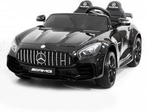 Детский электромобиль Harleybella Mercedes-Benz GT R Black 4x4 MP3 фото