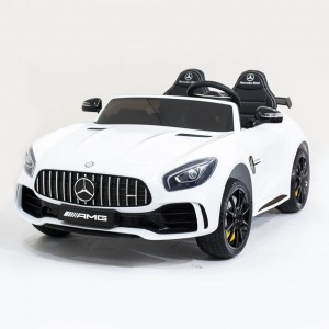 Детский электромобиль Harleybella Mercedes-Benz GT R White 4x4 MP3 фото