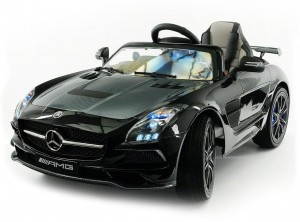 Детский электромобиль Mercedes-Benz SLS AMG Black Carbon Edition фото