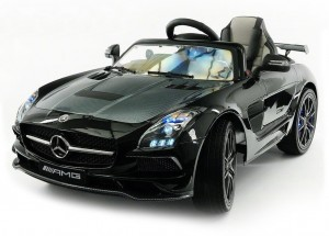 Детский электромобиль Mercedes-Benz SLS AMG Black Carbon Edition MP4 фото