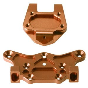 Alum. Top Plate Upper/Lower (Copper): Associated RC8 фото