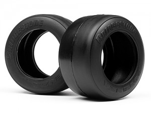 Шины 1/10 - F1 Bridgestone High Grip FT01 Slick Tire S (Rear) фото