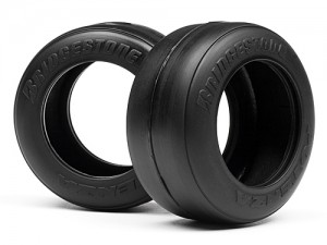 Шины 1/10 - F1 Bridgestone High Grip FT01 Slick Tire M (Front) (Formula Ten) фото