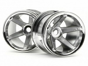 Диски колесные 1:10 Super Star MT Wheels Chrome (Rear/Deep Offset) фото