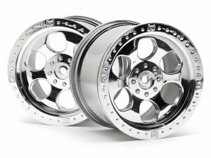 Диски колесные (Т-8) 6 Spoke Wheel Shiny Chrome (83x56mm/2pcs) Hex 14 фото