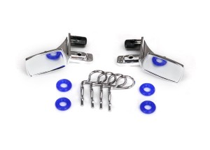 Зеркала Mirrors, side, chrome (left & right)/ o-rings (4)/ body clips (4) (fits #8130 body) фото
