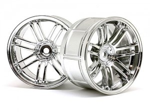 Диски колес 1/10 - LP32 Rays Volk Racing RE30 Chrome (2шт) 6mm Offset фото