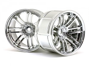 Диски колес 1/10 - LP35 Rays Volk Racing RE30 Chrome (2шт) 9mm Offset фото