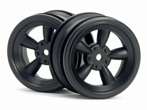 Диски 1/10 - Vintage 5 Spoke Wheel 26mm Black (0mm Offset) фото