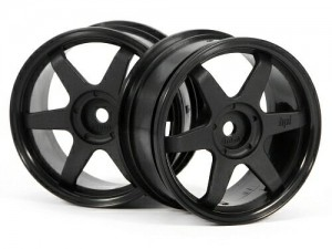 Диски 1/10 - TE37 Wheel 26mm Black (0mm Offset) фото
