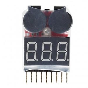 Индикатор питания для LiPo аккумуляторов с биппером 1-8S фото
