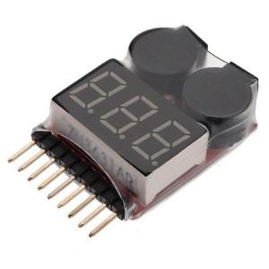 Высокоточный (0,01в) индикатор питания для LiPo аккумуляторов с биппером 1-8S фото