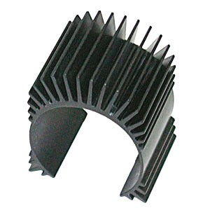 TC4 Motor Heatsink, black aluminum фото