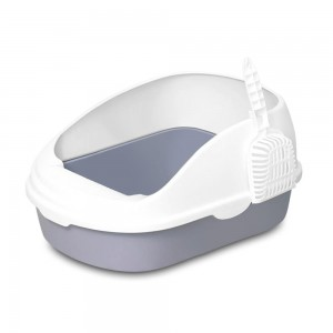 Лоток для кошек Xiaomi Semi-open Cat Litter White фото
