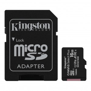 Карта памяти KINGSTON Canvas Select Plus MicroSD 16GB (Class 10) A1 (100 Mb/s) с адаптером BL1 фото