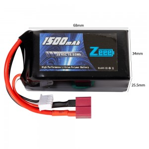 Аккумулятор Zeee Power LiPo 11.1V 3S 45C 1500mAh Soft (T-Plug) фото