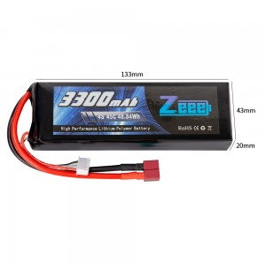 Аккумулятор Zeee Power LiPo 14.8V 4S 45C 3300mAh Soft (T-Plug) фото