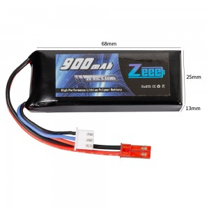 Аккумулятор Zeee Power LiPo 7.4V 2S 45C 900mAh Soft (JST) фото