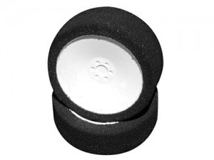 Колеса микропора 1/18 HPI Micro Pro Foam Tyres 17mm (A/Soft) with Dish Wheel White (1 Pair) фото