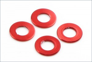 Aluminum Color (3x6x0.5mm/Red/4pcs) фото