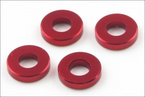 Aluminum Color (3x6.5x1.5mm/Red/4pcs) фото