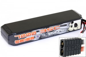 Аккумулятор Team Orion Carbon XX LiPo 7.4V 2S 35C 7000 mAh (TRAXXAS) фото