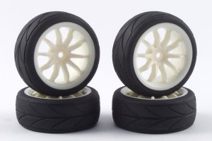 Колеса 1/10 - 10-Spoke Touring Car (4шт) - White фото