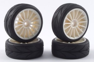 Колеса 1/10 - 15-Spoke Touring Car (4шт) - White фото