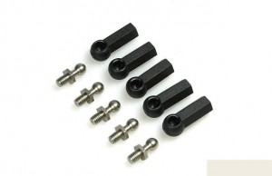Шаровые 4mm Short Thread Ball Stud & Ball Cup (for 3mm rod) (5шт) Black фото