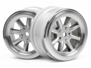 Диски 1/10 - Vintage 8 Spoke 26mm Matte Chrome/0mm Offset (2шт) фото