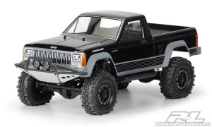 Неокрашенный кузов Proline Jeep Comanche Full Bed Clear Body для краулера 1:10 Axial SCX10 12.3