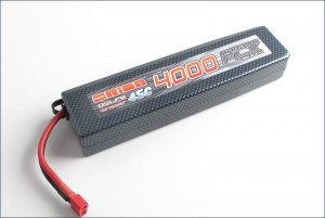 Аккумулятор Team Orion Carbon FLX LiPo 7.4V 2S 45С 4000 mAh для автомоделей (T-Plug/Deans) фото