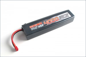 Аккумулятор Team Orion Carbon FLX LiPo 11.1V 3S 45С 4000 mAh для автомоделей (T-Plug/Deans) фото