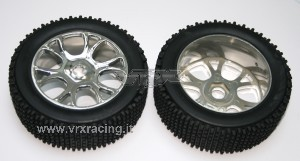 85927 Buggy Pre-mounted Tyres w/chromed rims фото