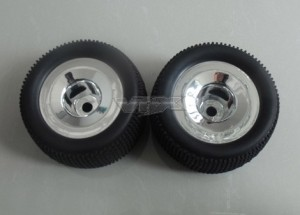 85938 Truggy Pre-mounted Tyres w/chromed rims фото