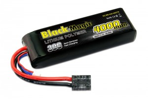 Аккумулятор Black Magic LiPo 11.1V 3S 30C 4000mAh (TRX) для автомоделей фото