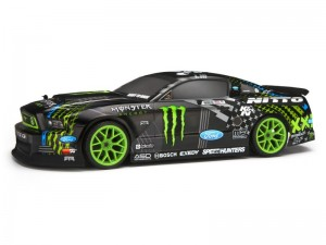 Окрашенный кузов 2013 Ford Mustang Vaughn Gittin Jr., Monster and Nitto 200мм для шоссеек 1:10 фото