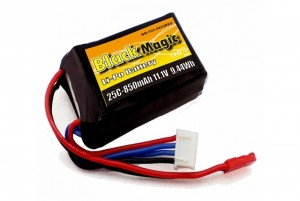 Аккумулятор Black Magic LiPo 11.1V 3S 25C 850mAh (JST) фото